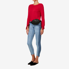 Quilted Belt Bag  BLACK  hi-res