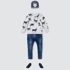 Wolf Yardage Sweater  VINTAGE WHITE MARLE  hi-res