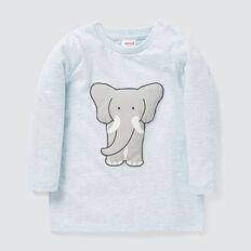 Big Elephant Tee  PACIFIC BLUE MARLE  hi-res