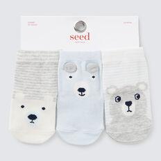 Bear Socks  BLUE  hi-res