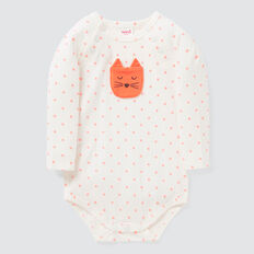 Cat Pocket Bodysuit  CORAL RED  hi-res