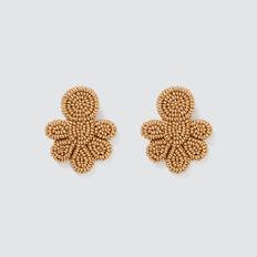 Seed Bead Earrings  GOLD  hi-res