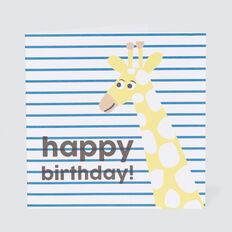 Large Happy Birthday Giraffe Card  MULTI  hi-res