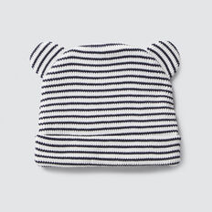 Novelty Stripe Waffle Beanie  CANVAS  hi-res