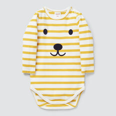 Long Sleeve Stripe Bodysuit  SAFFRON  hi-res