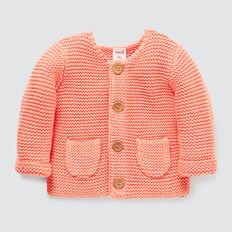 Pockets Knit Cardigan  CORAL RED  hi-res