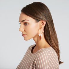 Bow Hoop Earrings  ROSE GOLD/ PINK  hi-res