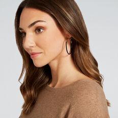 Contrast Hoop Earrings  GOLD/BLACK  hi-res