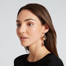 Tassel Tort Earrings  TORT/ BLACK  hi-res