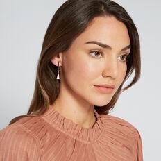 Mini Tassel Bar Earrings  ROSE GOLD/ PINK  hi-res