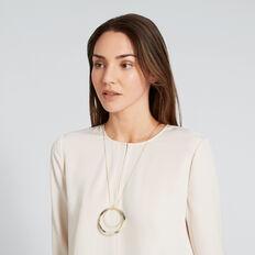 Circle Tort Necklace  GOLD/TORT  hi-res