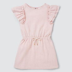 Jersey Frill Dress  ICE PINK MARLE  hi-res
