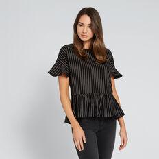 Stripe Frilly Top  BLACK/WINTER OAK  hi-res