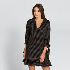 Tie Sleeve Dress  BLACK/WINTER OAK  hi-res