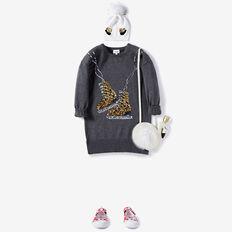 Ice Skates Knit Dress  CHARCOAL MARLE  hi-res