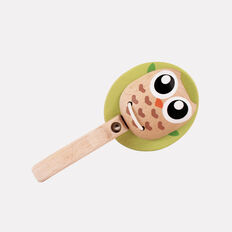 Wooden Owl Rattle  MULTI  hi-res