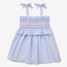 Rainbow Shirred Top  BLUEBELL  hi-res