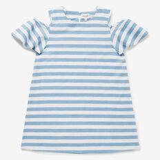 Stripe Cold Shoulder Dress  CHAMBRAY STRIPE  hi-res