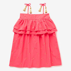Lurex Embroidered Dress  WATERMELON  hi-res