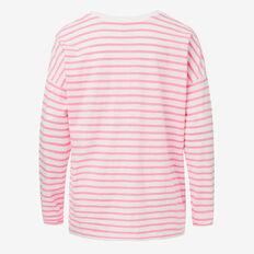 Stripe Tee  ROSE RED/ CANVAS  hi-res