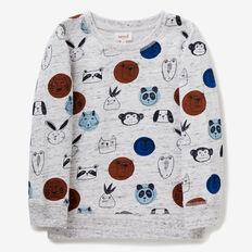 Animal Yardage Sweater  VINTAGE WHITE MARLE  hi-res