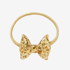 Sparkle Bow Hair Elastic  GOLD  hi-res