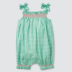 Gingham Romper  APPLE GREEN  hi-res