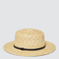 Straw Boater  NATURAL  hi-res