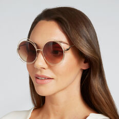 Chantal Round Sunglasses  GOLD  hi-res