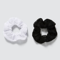 Mesh Scrunchie  BLACK/WHITE  hi-res