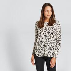 Hi Lo Ocelot Sweater  OCELOT  hi-res