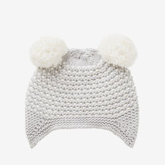 Pom Pom Ear Beanie  CLOUD MARLE  hi-res