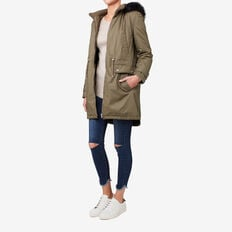 Faux Fur Trimmed Parka  MILITARY OLIVE  hi-res