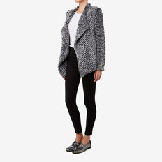 Faux Fur Jacket  LIGHT GREY MARLE  hi-res
