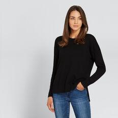 Hi-Lo Knit Top  BLACK  hi-res