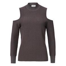 Cold Shoulder Knit  CHARCOAL MARLE  hi-res