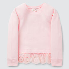Broderie Hem Windcheater  ICE PINK  hi-res
