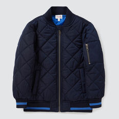 Quilted Bomber Jacket  MIDNIGHT BLUE  hi-res