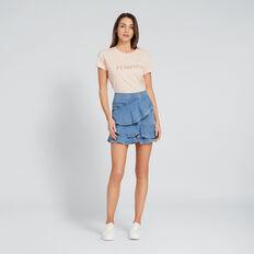 Asymmetric Denim Skirt  CLASSIC DENIM  hi-res