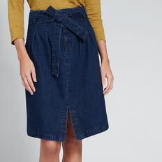 Drill Denim Skirt  DEEPEST BLUE WASH  hi-res