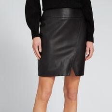 Leather Skirt  BLACK  hi-res