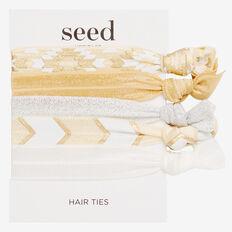 Hair Elastic Pack  GOLD  hi-res