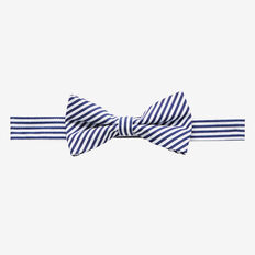 Stripe Bow Tie  NAVY  hi-res