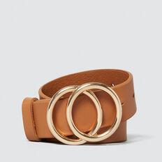 Double Ring Belt  TAN  hi-res