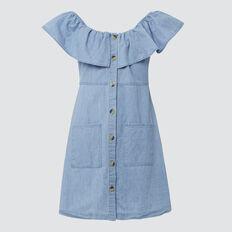 Chambray Dress  BLUE CHAMBRAY  hi-res