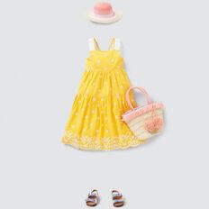 Broderie Midi Dress  BUTTERCUP  hi-res