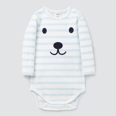 Long Sleeve Stripe Bodysuit  PACIFIC BLUE  hi-res