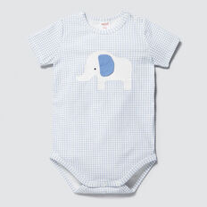 Elephant Applique Bodysuit  BRIGHT BLUEBELL  hi-res