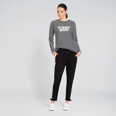 Stripe Track Pant  BLACK  hi-res