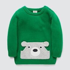 Bear Pocket Crew Knit  LIZARD GREEN  hi-res